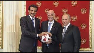 مراسم تسليم دولة قطر استضافة مونديال 2022