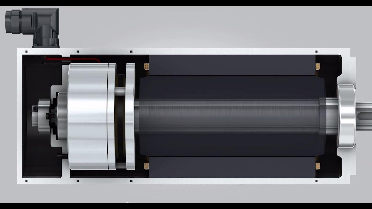 hight resolution of  springsetbrake servobrake engineeringanimation