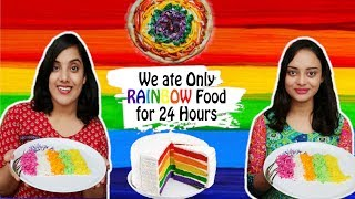We only ate RAINBOW Food for 24 hours Challenge | Life Shots