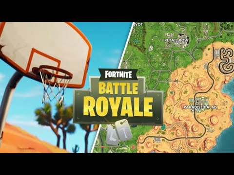 ALL LOCATIONS OF BASKETBALL Hoops In *Fortnite Battle Royale Season 5!!!