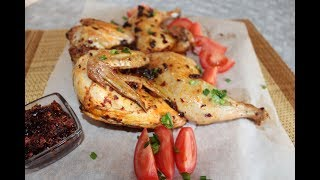 Курица, запеченная с соусом лаоганма