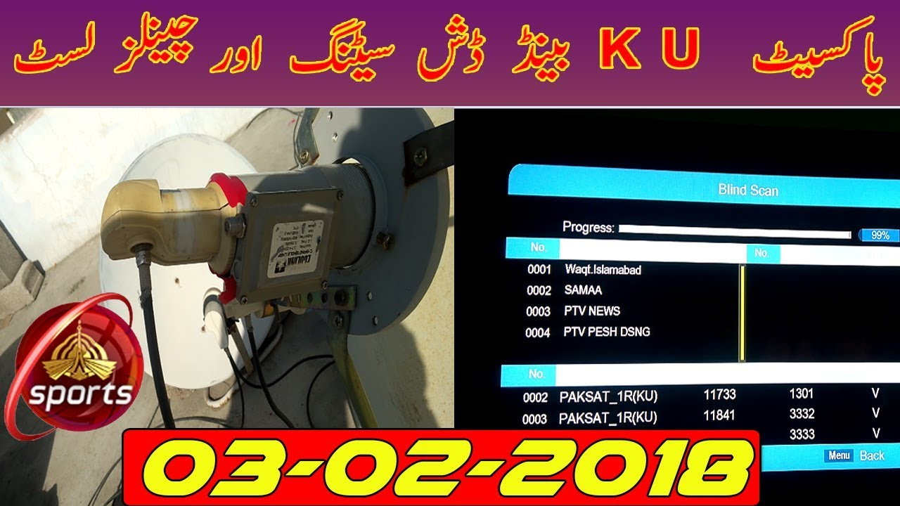 Paksat-KU Band Dish Setting & Channels List 03-02-2018