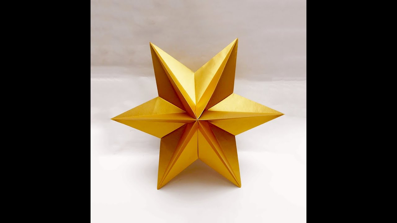 Origami Star - easy. Ideas for Christmas. Origami ...