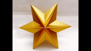 Origami Star  - easy. Ideas for Christmas. Origami  Dominanta Star. Новогодние поделки