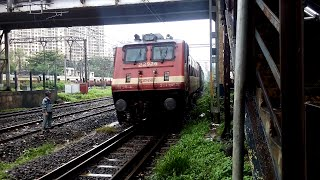 Late Running Pawan Express Hurry To Reach LTT With ITARSI WAP-4 Skips Bhandup