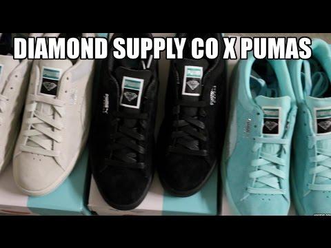 47cd61b76c 3 NEW DIAMOND SUPPLY CO X PUMAS !!! - YouTube