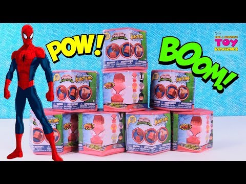 Blast'Ems Mashems Spider Man Exploding Squishy Toy Fun Blind Bag Review | PSToyReviews