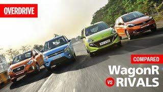2019 Maruti Suzuki WagonR vs Hyundai Santro vs Tata Tiago vs Datsun GO | Comparison test | OVERDRIVE