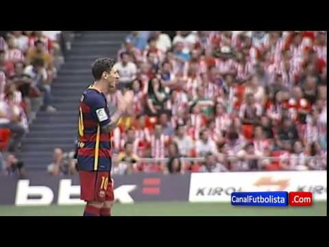 Barcelona superstar Leo Messi's upset reaction to missing a penalty v Athletic Bilbao