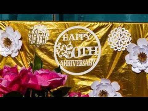 50th Wedding Anniversary Party Decoration Ideas Youtube