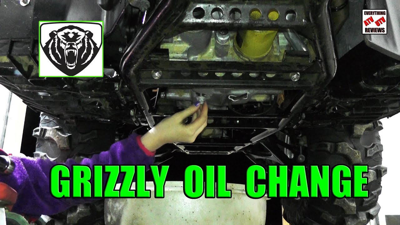 medium resolution of grizzly 700 oil change