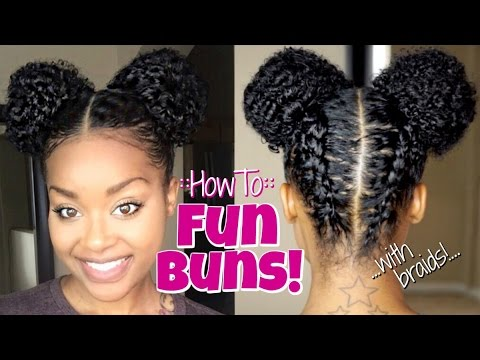 How To Fun Buns Space Buns Youtube