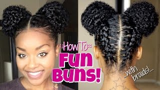 How To:: Fun Buns/Space Buns!!