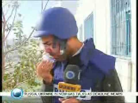 Israeili Zionists Shoot Innocent Palestinian Reporter