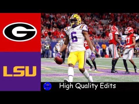 4 Georgia Vs 2 Lsu 2019 Sec Championship Highlights College Football Highlights Youtube