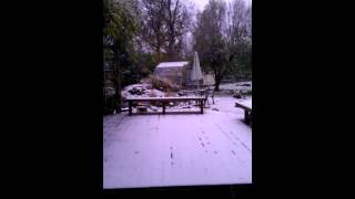 First snow of the season, October 30, 2012