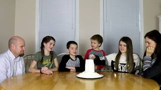 Family Flour Tower Challenge / That YouTub3 Family