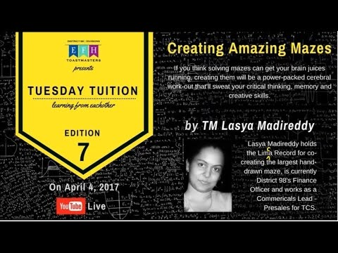 TUSDAY TUITION 8 | Creating Amazing Mazes | by Lasya