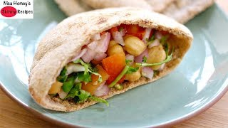 Healthy 5 Minute Whole Wheat Pita Bread Recipe - Oil Free Recipes For Weight Loss - Skinny Recipes
