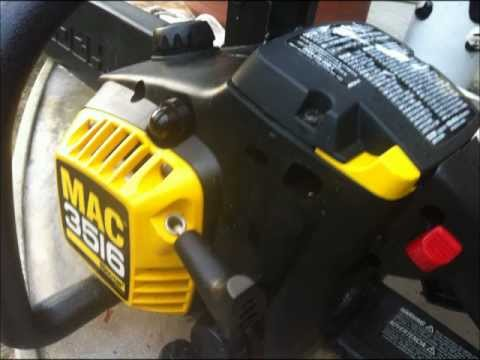 How to replace MCCULLOCH chainsaw MAC 3516 fuel line - YouTube