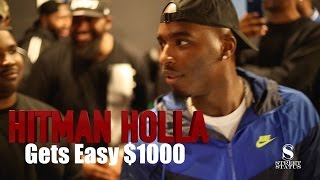 wild n out star hitman holla gets 1000 cash to battle on the spot