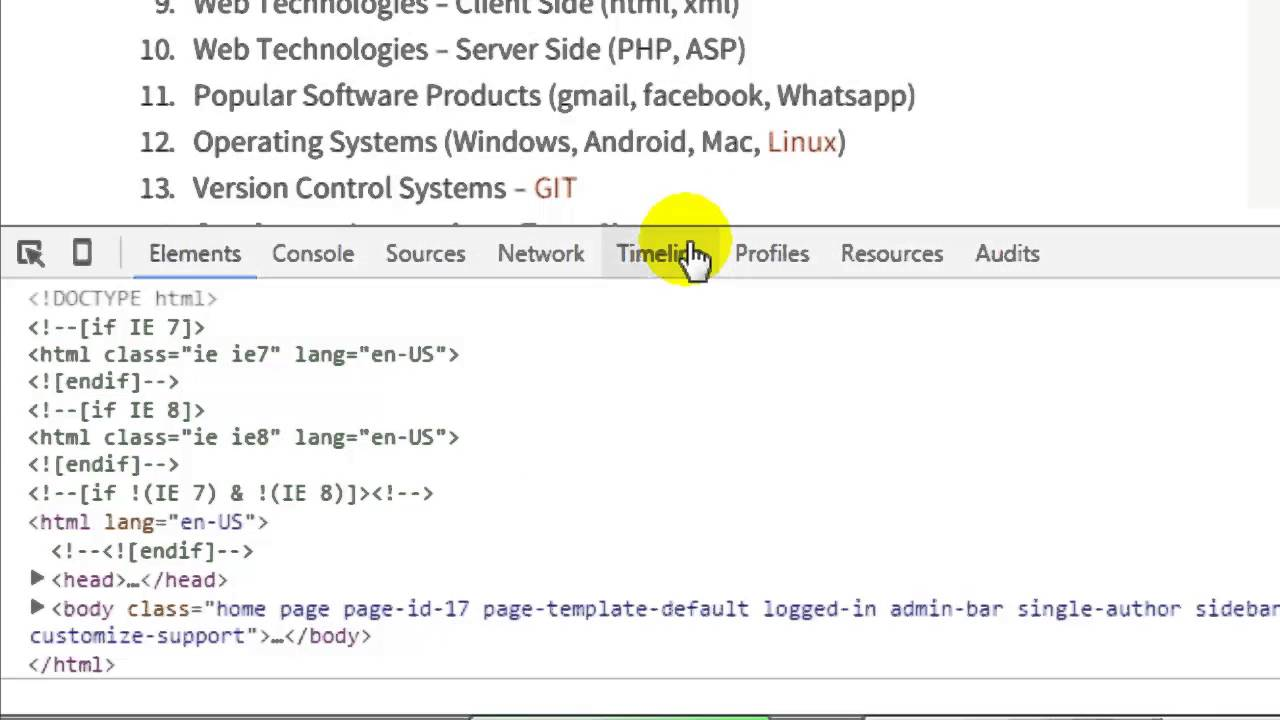 How to find the css selector in chrome