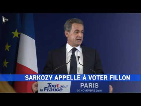 Nicolas Sarkozy reconnaît sa défaite et appelle à voter Fillon