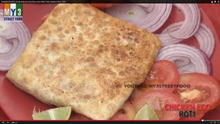 CHICKEN EGG ROTI | Chicken Baida Roti  | EGG ROLL | GOA STREET FOOD | INDIAN STREET FOOD