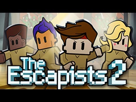 The GREAT ESCAPE!  How To Beat ESCAPISTS 2 First Prison (The Escapists 2 Mutliplayer Gameplay Part 2