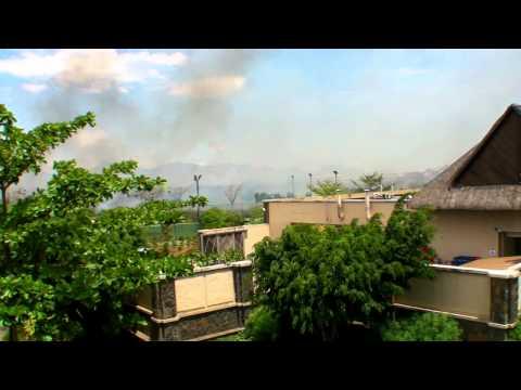 Fire at the grand mauritian - Incendie au Grand Mauritian 9 oct 2011