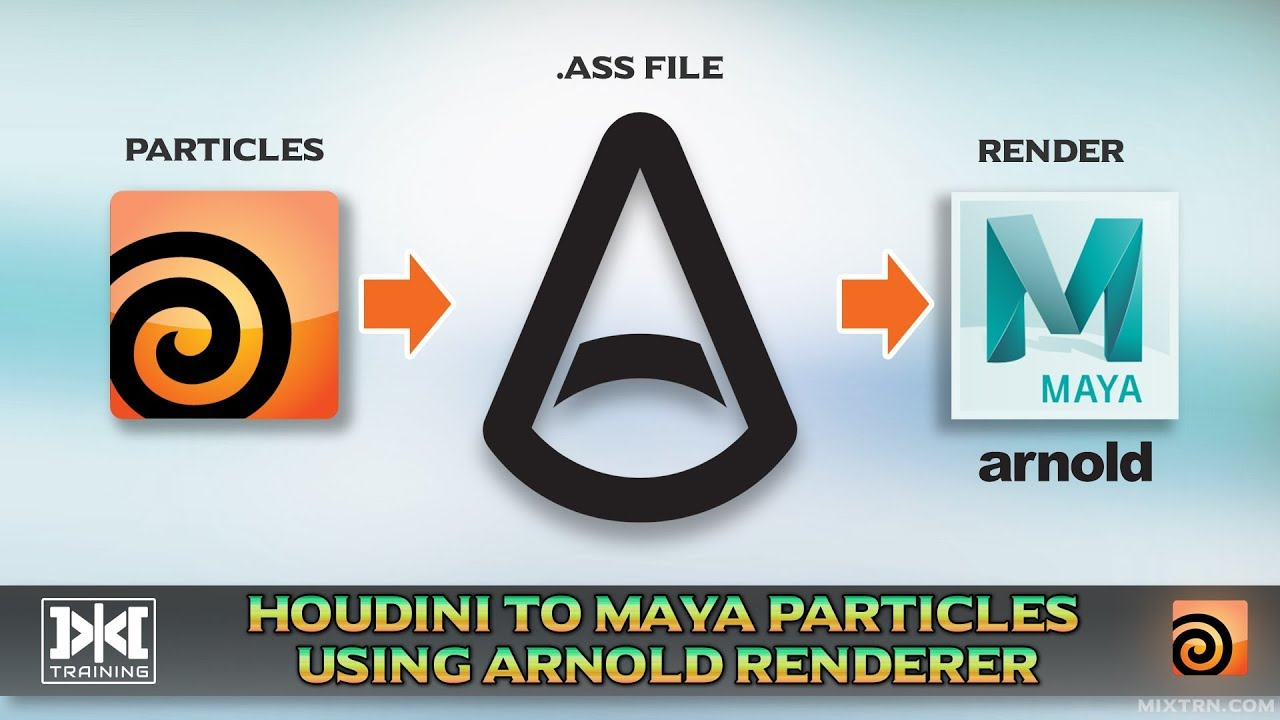 Export Particles to Maya using Arnold Renderer | SideFX