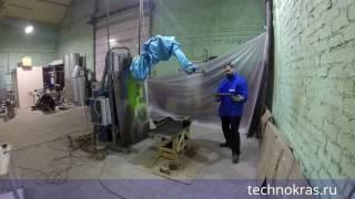 Фасады из дуба. Покраска кухонных фасадов окрасочным роботом.(Испытания и подбор технологии для окраски кухонных фасадов из массива дуба окрасочным роботом. Этот ролик..., 2016-11-08T12:25:18.000Z)