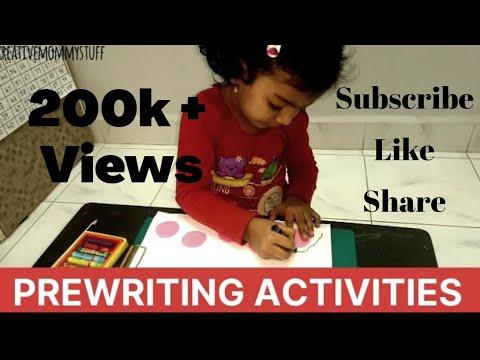 Pre Writing Activity For Preschoolers