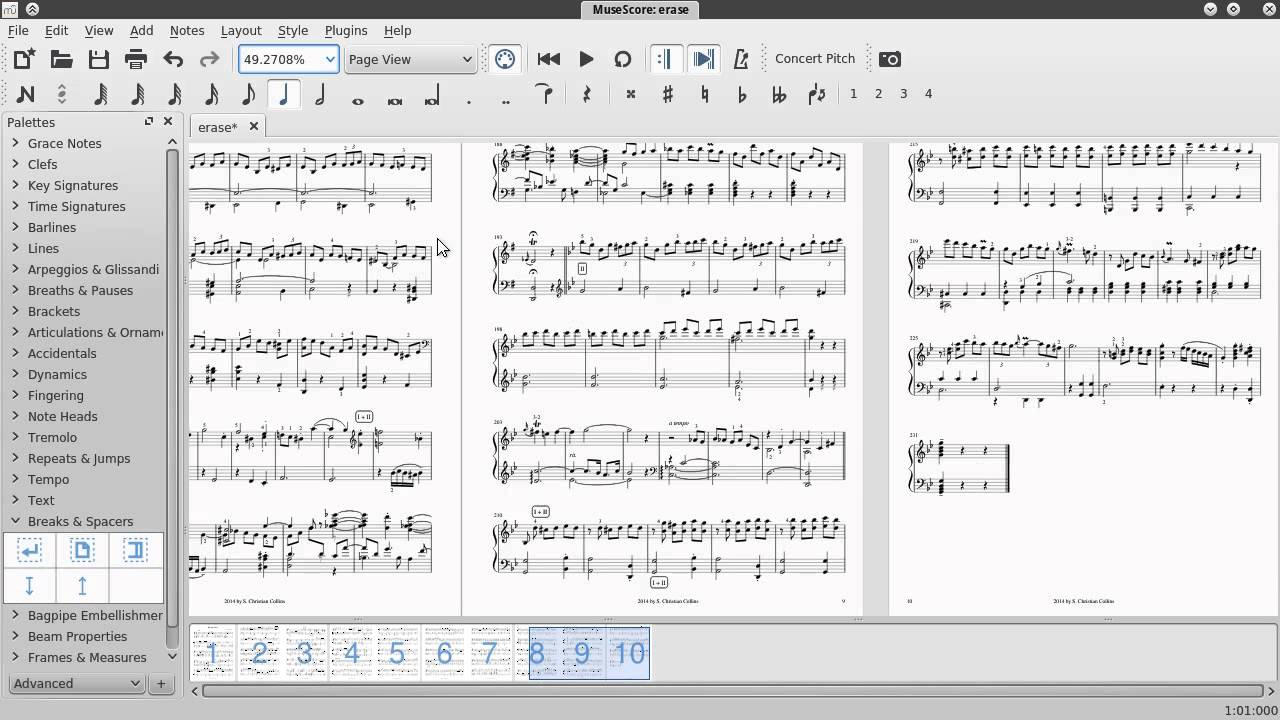 Page Layout and Formatting in MuseScore (tutorial)