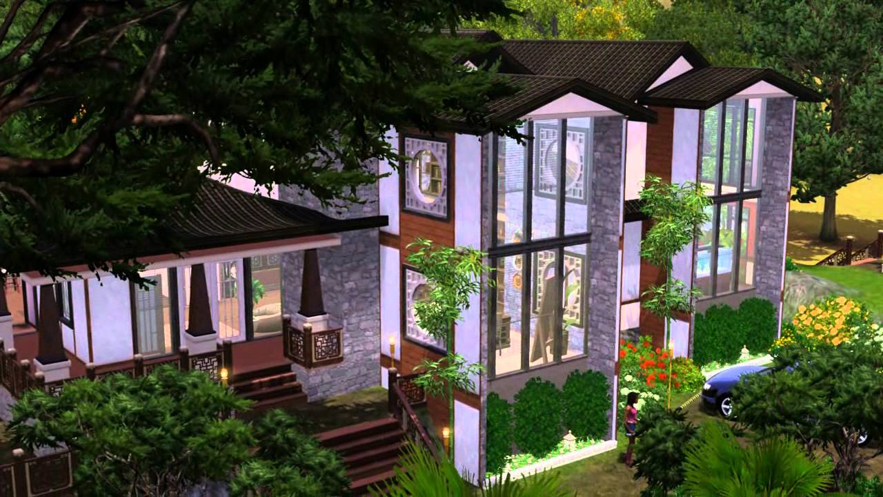 The sims 3 house building asian dreams 67 youtube for Dream house builder