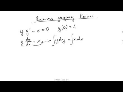 Как решить задачу коши аналитически статистика мода решение задач