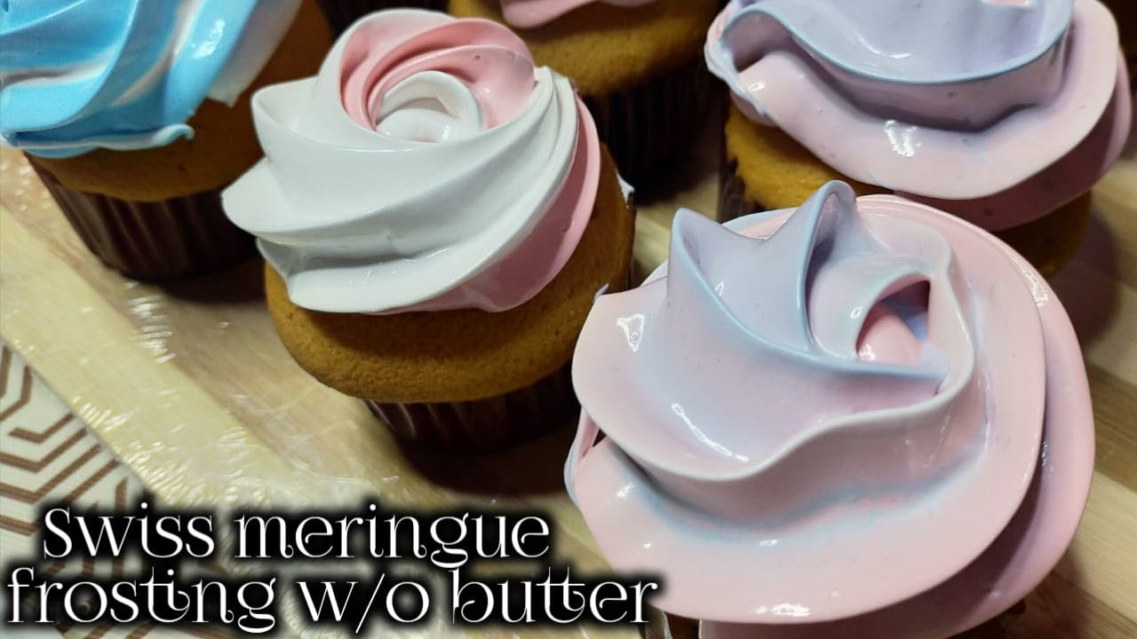 Swiss Meringue Frosting Without Butter 50pesos Lang Youtube