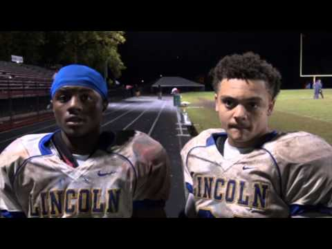 Post Game interview with Lincoln Prep Colandus Rucker III & Joshua vandunk