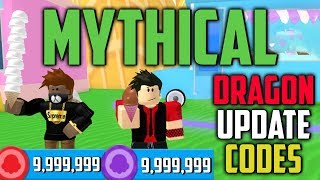 DRAGONS UPDATE MYTHICAL CODES IN ROBLOX ICE CREAM SIMULATOR