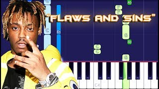 Juice WRLD - Flaws and Sins Piano Tutorial EASY (Piano Cover)