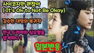 사이코지만 괜찮아 , 김수현 대망의 복귀작,  한국 드라마의 심오함을 느끼다 .일본넷플릭스 삼분지세( 日本三分之勢) , 전세계로 확산하는 한류 드라마, 부러워하는 일본,일본반응