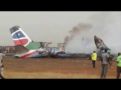 South Sudan plane crash: Dozens feared dead as flight with 44 people on board crashes at Wau airport