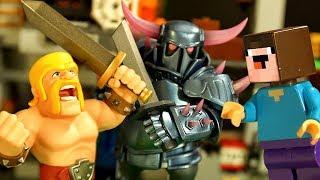 УДАЛЯЮ КАНАЛ ? Clash of Clans vs ROBLOX - Лего НУБик Майнкрафт Мультики - LEGO Minecraft Мультфильмы