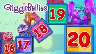 20 GiggleBellies (10 Little Indians) | Learning Songs | GiggleBellies