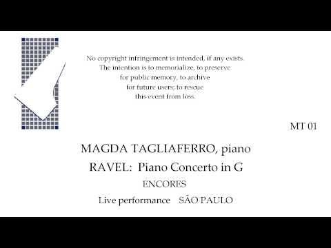RAVEL Piano Concerto in G  Magda Tagliaferro, piano Live  SAO PAULO