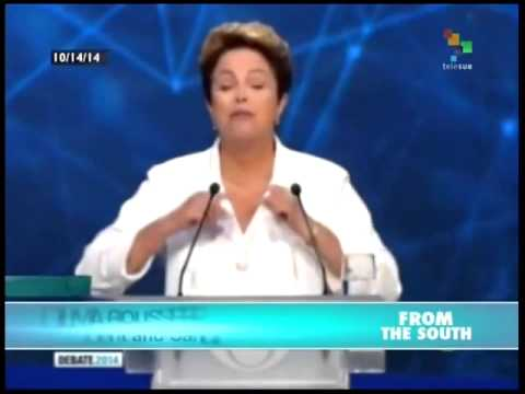 Brazil's Rousseff challenges Neves on education, health, social issues