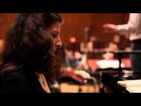 Ingrid Jacoby recording Beethoven Piano Concerto No.4 (2011)