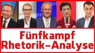 Rhetorik Analyse: Der Fünfkampf nach dem TV Duell - AFD, FDP, CSU, Grüne, Linke