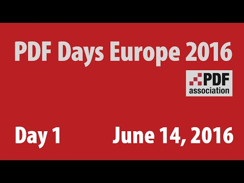 «PDF Days Europe 2016» - Tuesday, June 14, 2016