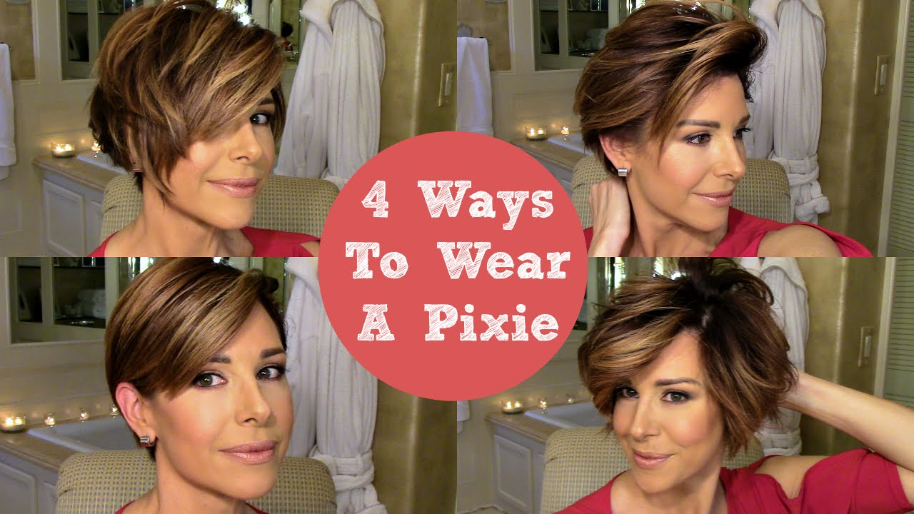 How To Style A Pixie 4 Ways You
